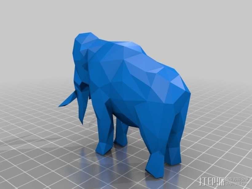低面数猛犸象 3D模型  图4