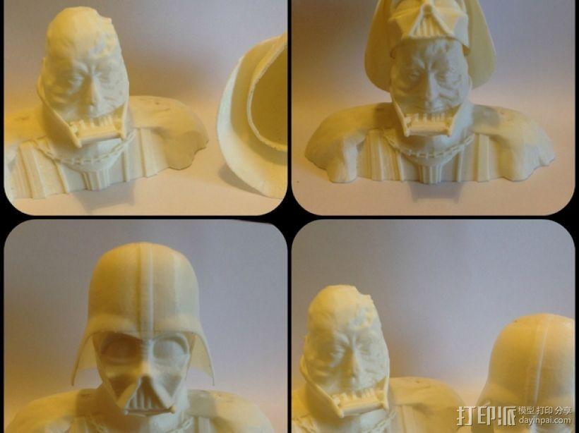 黑武士 半身像 3D模型  图3