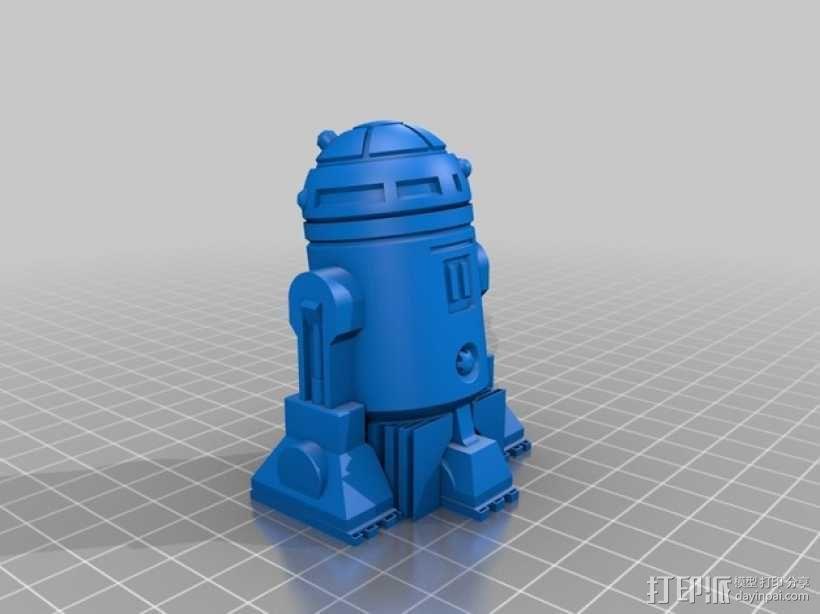 《星球大战》R2D2机器人 3D模型  图2