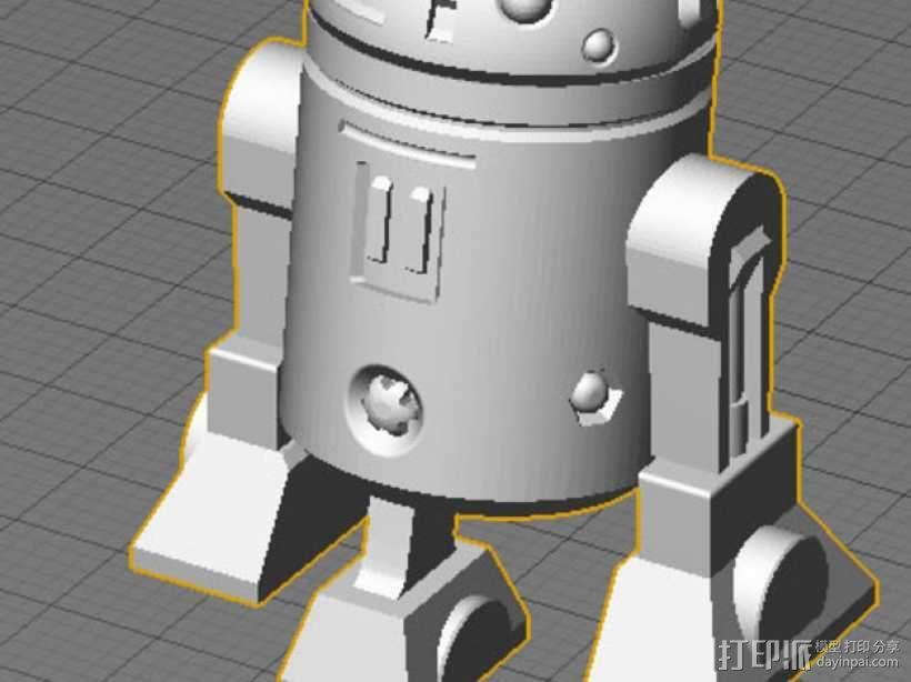 《星球大战》R2D2机器人 3D模型  图1
