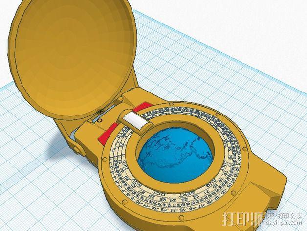 航海泛光灯 3D模型  图1