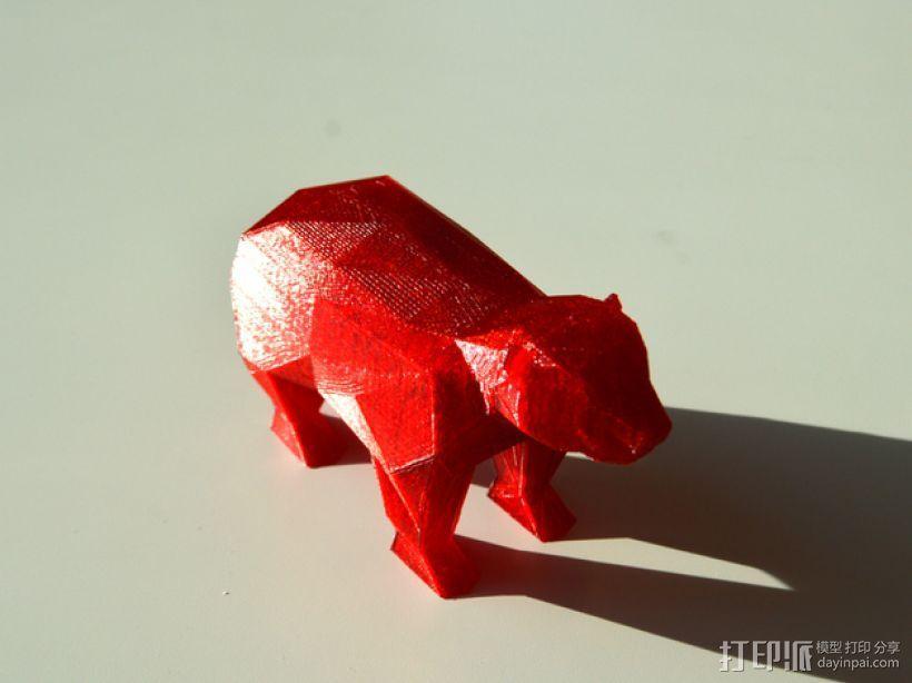 低面数 熊 3D模型  图2