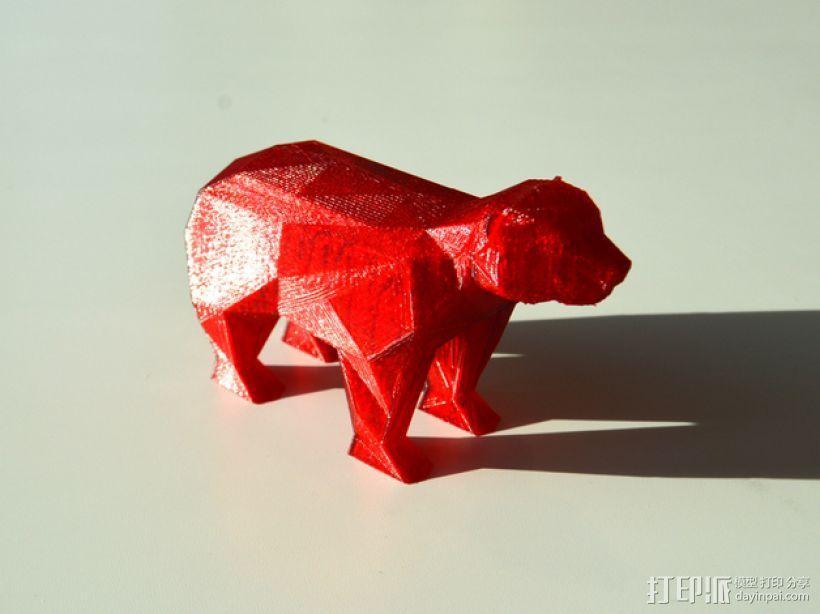 低面数 熊 3D模型  图1