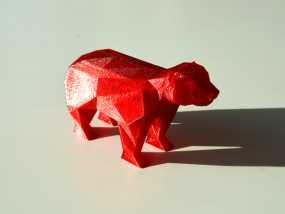 低面数 熊 3D模型