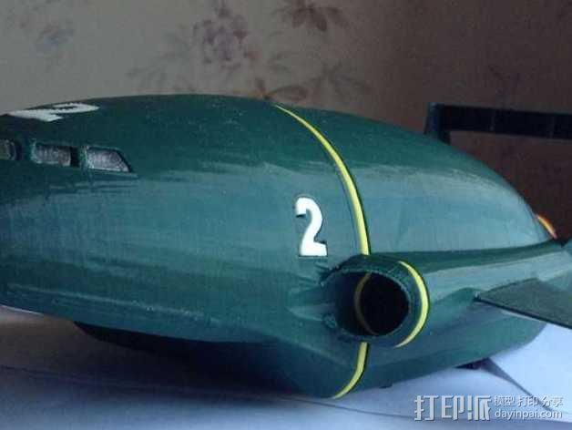 雷鸟 飞行器 3D模型  图1