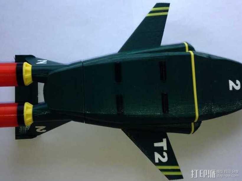 雷鸟 飞行器 3D模型  图3