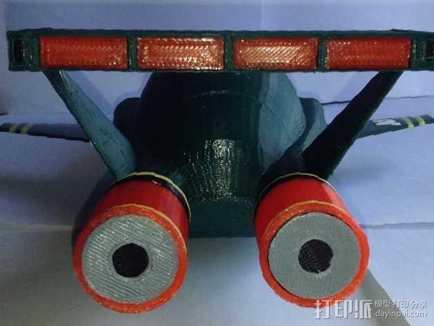 雷鸟 飞行器 3D模型  图2
