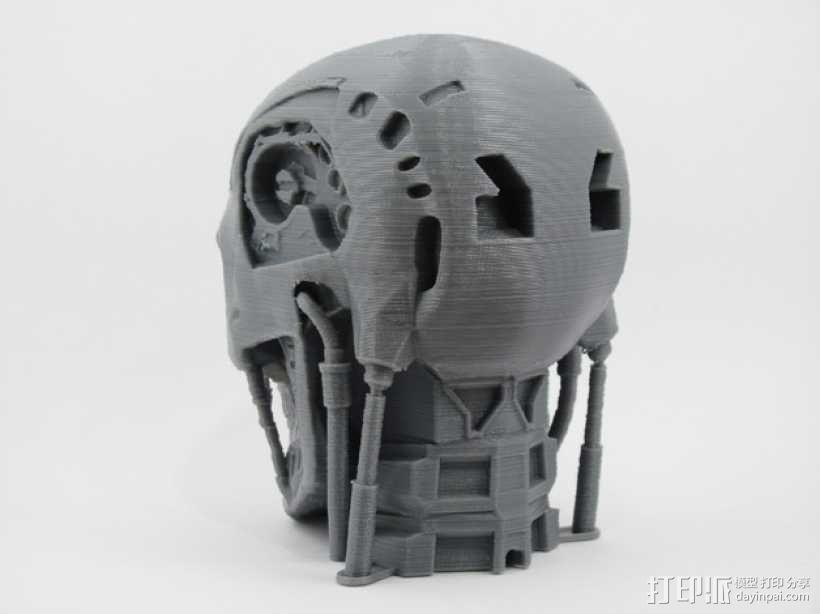 T-800机器人 头部 3D模型  图4