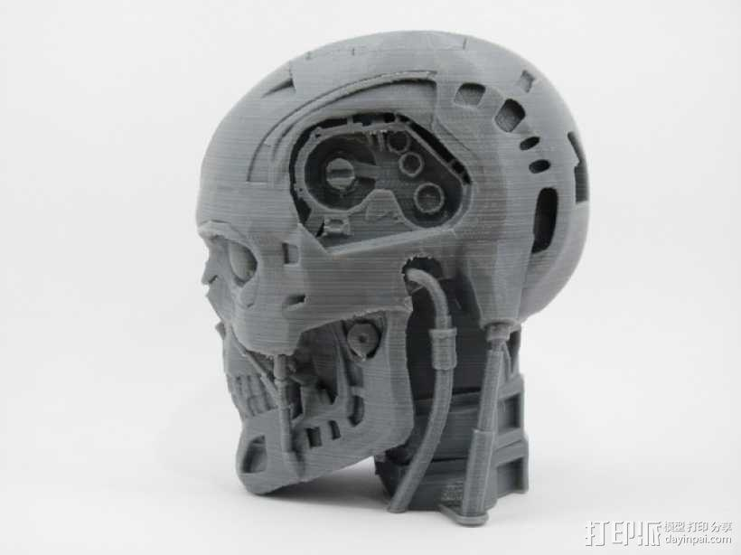 T-800机器人 头部 3D模型  图3