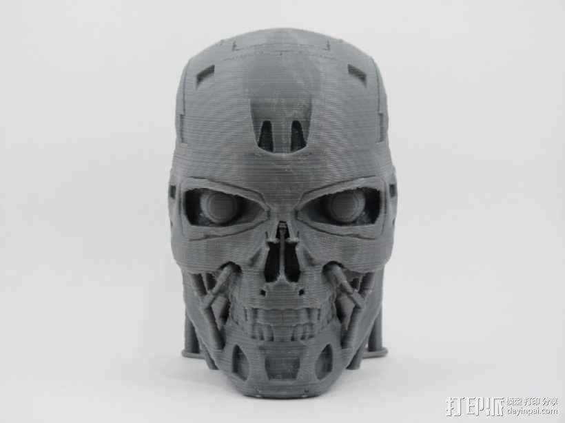 T-800机器人 头部 3D模型  图2