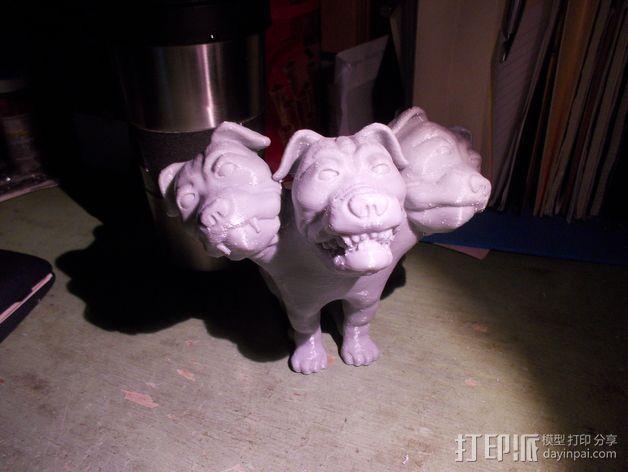 Fluffy 三头犬 3D模型  图4