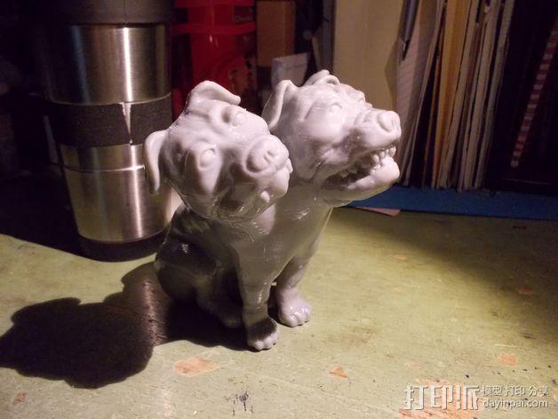 Fluffy 三头犬 3D模型  图5