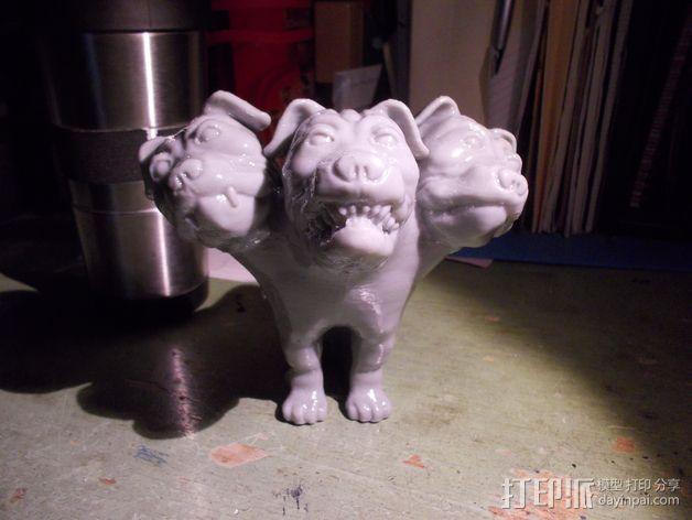 Fluffy 三头犬 3D模型  图9