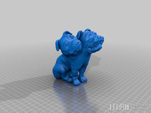 Fluffy 三头犬 3D模型  图12