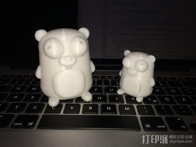 地鼠 3D模型  图1