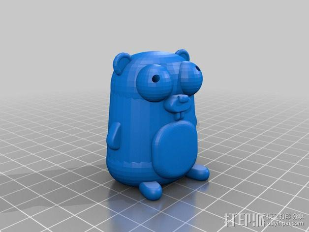 地鼠 3D模型  图2