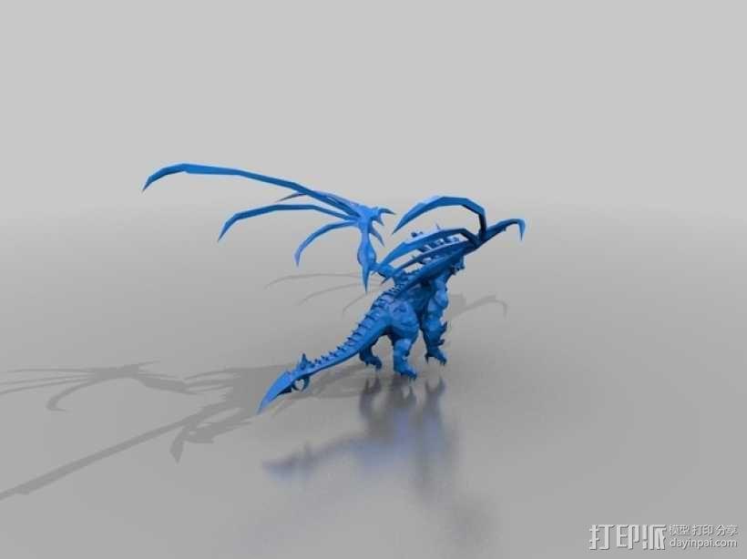 《死亡之翼》巨龙 3D模型  图1