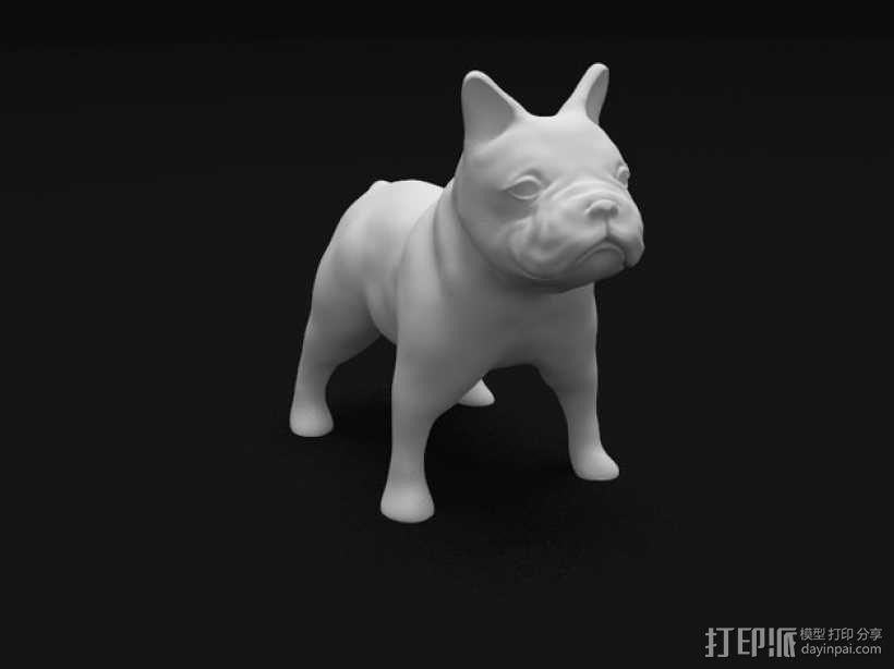 法国斗牛犬 3D模型  图1