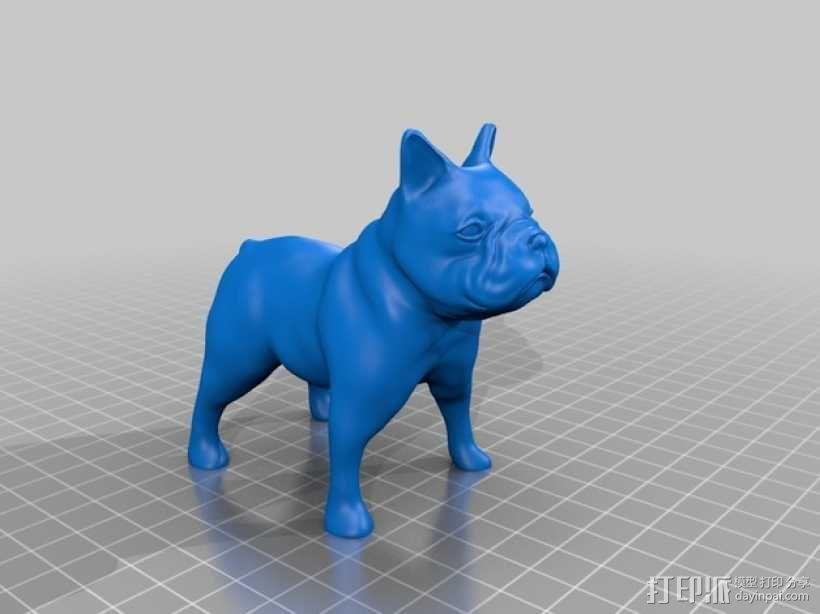 法国斗牛犬 3D模型  图2