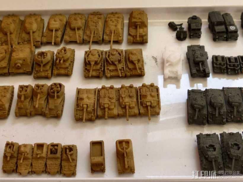 1:200坦克 3D模型  图1