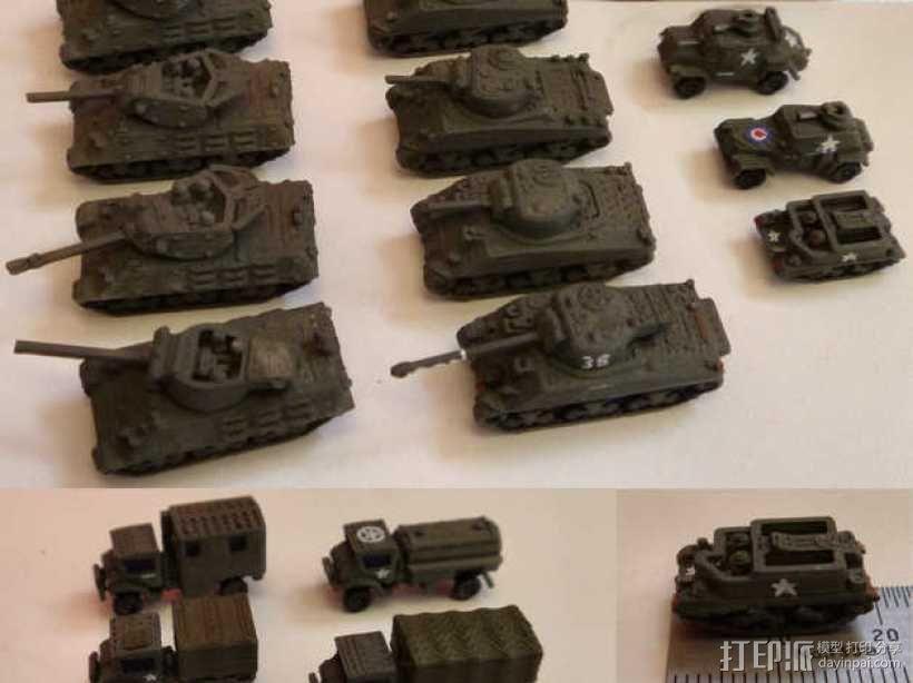 1:200坦克 3D模型  图3