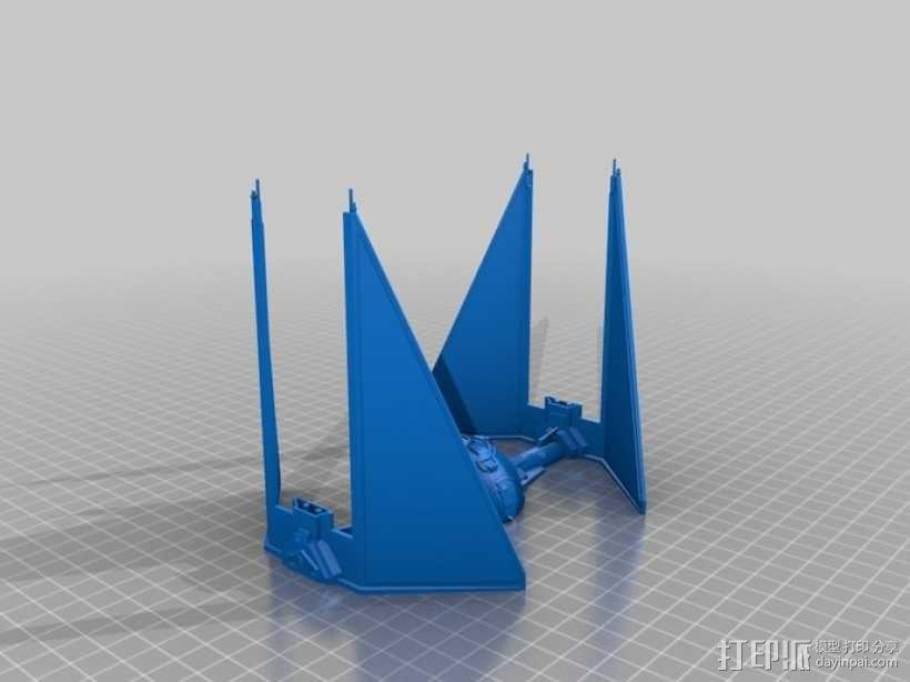 《星球大战》钛截击机 3D模型  图4