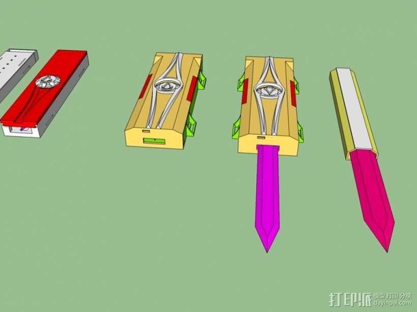 《刺客信条》袖剑  3D模型  图2