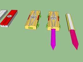 《刺客信条》袖剑  3D模型