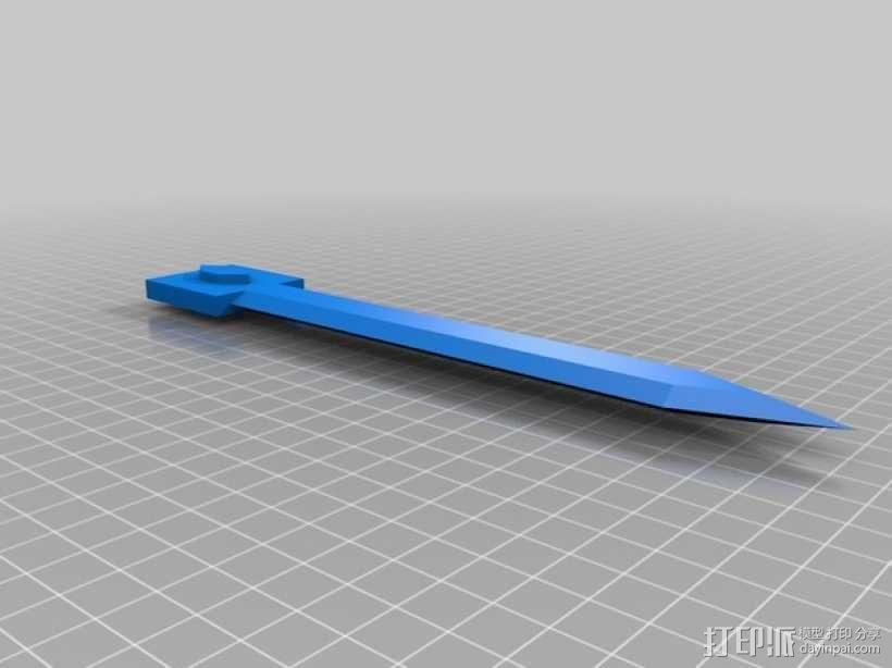 《刺客信条》袖剑  3D模型  图25
