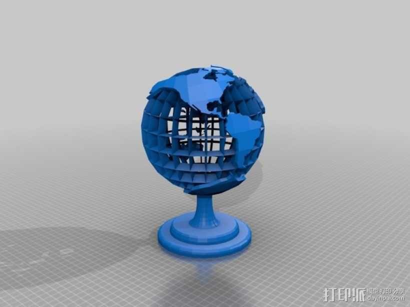 地球 床头灯 3D模型  图1