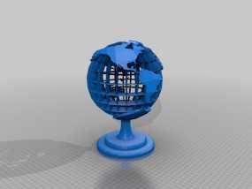 地球 床头灯 3D模型