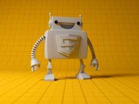 Html5机器人 3D模型