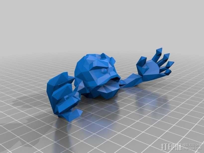 小拳石 3D模型  图3