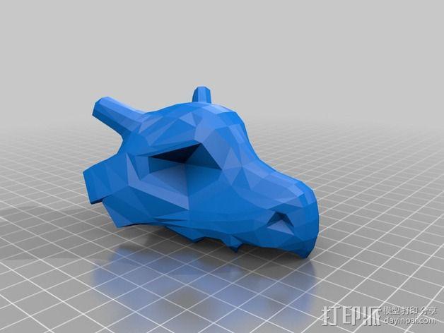 Cubone头骨模型 3D模型  图4