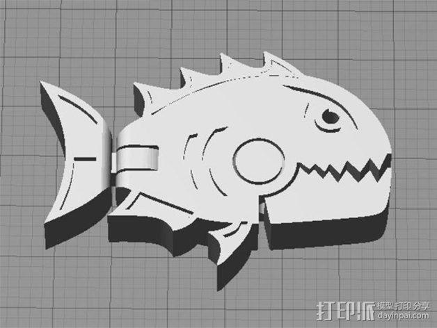 食人鱼  3D模型  图1