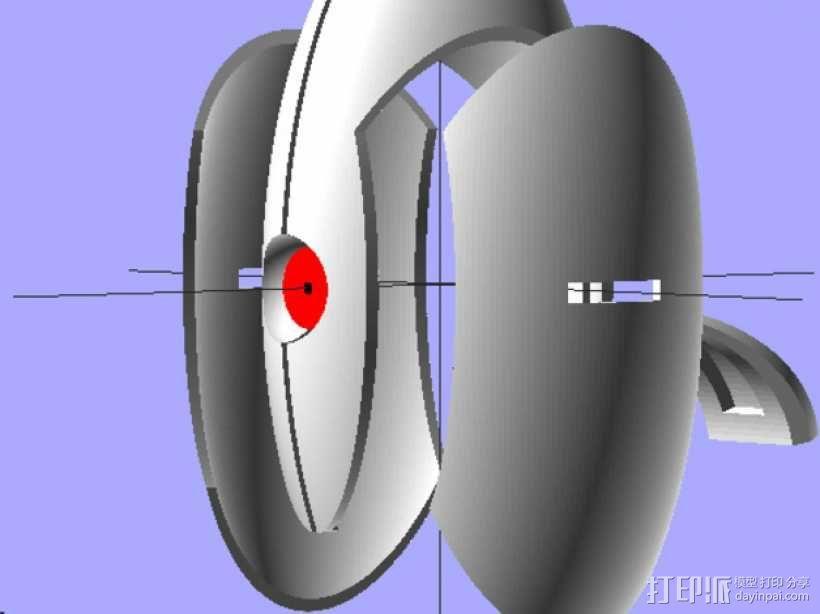 传送门2 炮塔 3D模型  图1