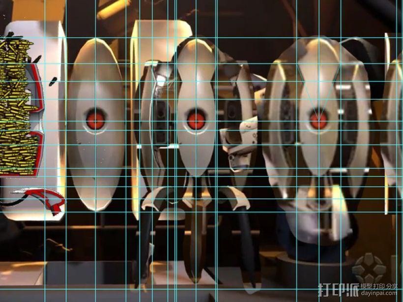 传送门2 炮塔 3D模型  图2