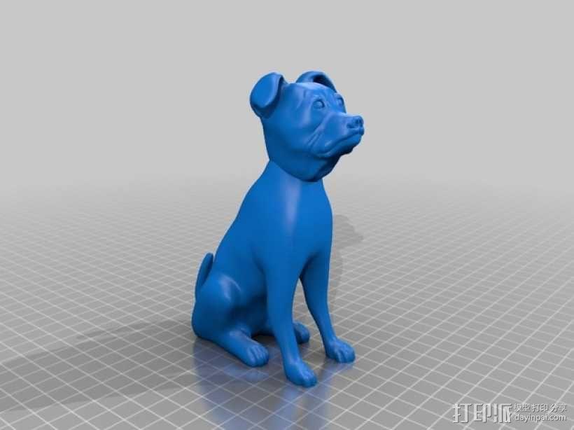 斯塔福狗 3D模型  图1