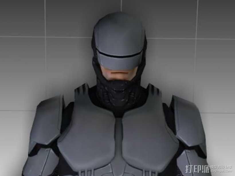 2014机械战警 半身像 3D模型  图1