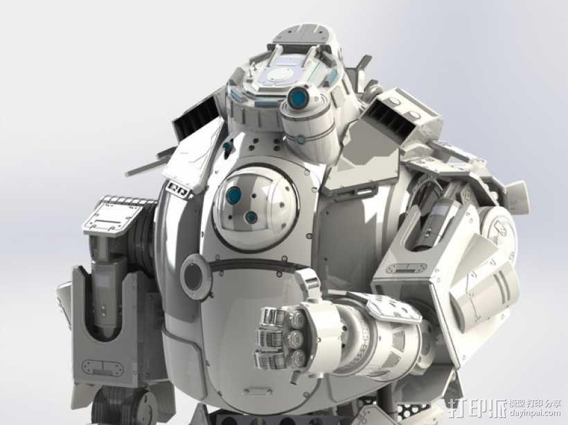 《泰坦陨落(Titanfall)》  Atlas装甲机器人 3D模型  图1