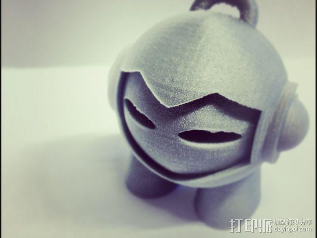 Marvin 玩偶 钥匙扣 3D模型  图1