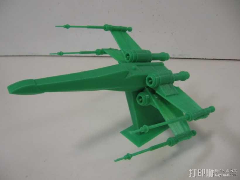 《星球大战 》X翼战机  3D模型  图1