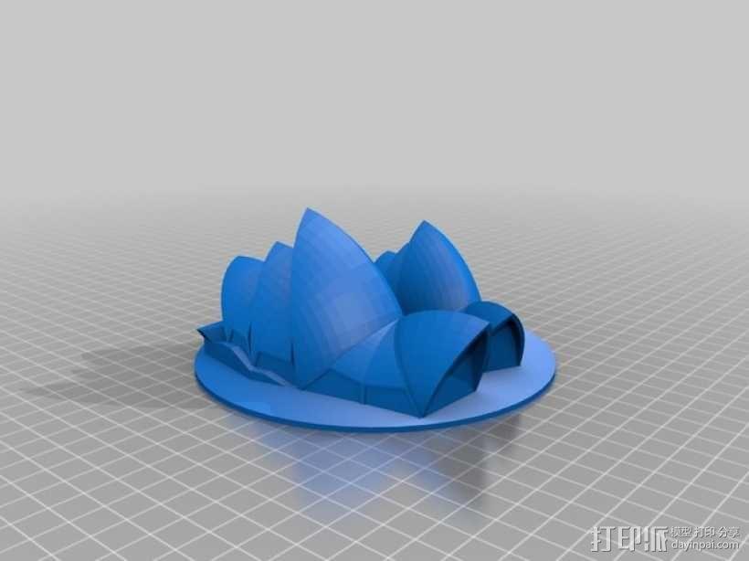 悉尼歌剧院 3D模型  图1