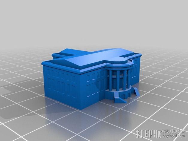 白宫 3D模型  图2