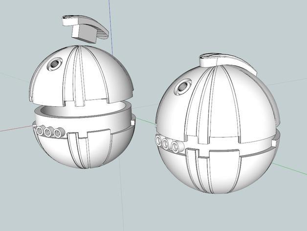 圣诞树装饰品:迷你热能炸弹 3D模型  图5