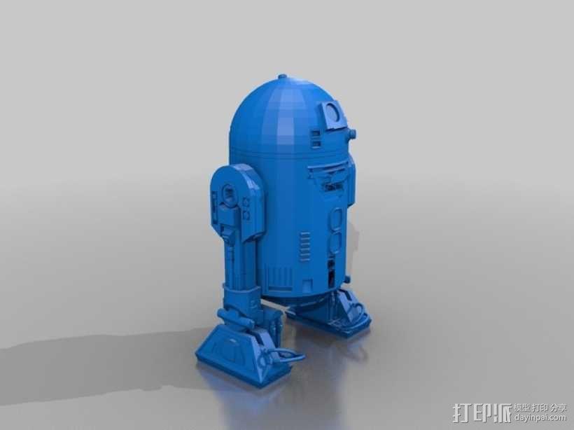 《星球大战》R2-D2机器人 3D模型  图2