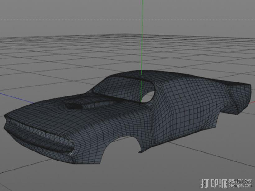 大功率高速汽车 外壳 3D模型  图1