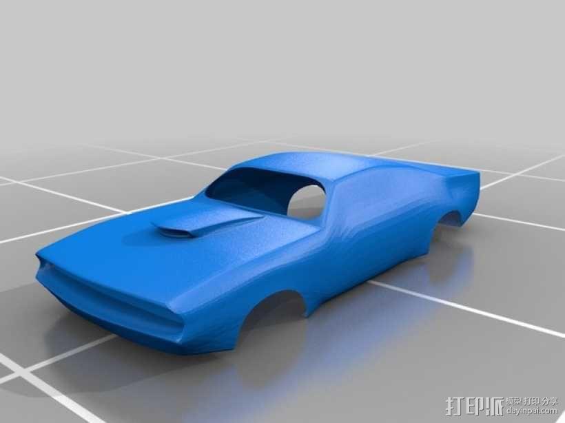 大功率高速汽车 外壳 3D模型  图2