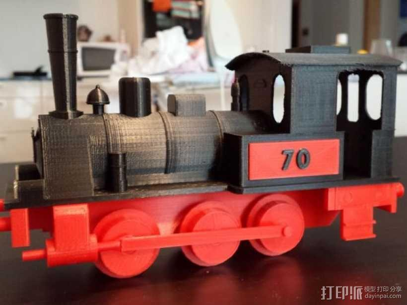 蒸汽机车 3D模型  图1