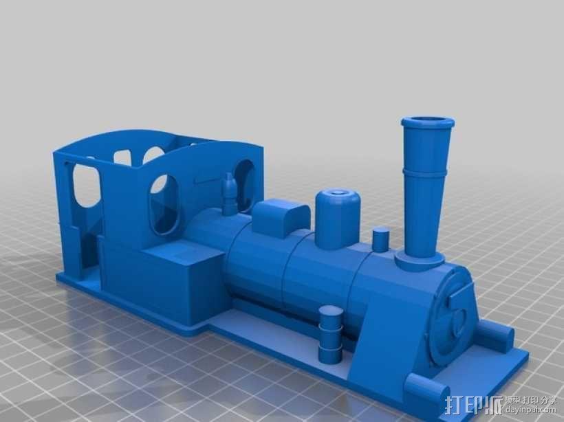 蒸汽机车 3D模型  图4